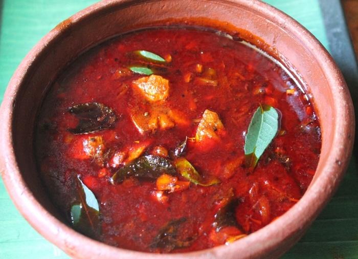 Nadan Meen Curry (Fish Curry Kerala Style), fish curry with thick gravy, spicy fish curry, kerala fish curry, chuvana fish curry, kerala cooking, kerala dishes, kerala recipes, kerala cuisine, south indian recipes