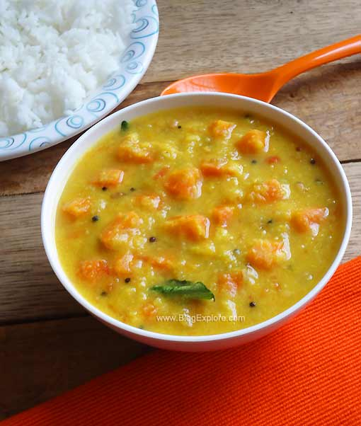 easy dal carrot curry, parippu carrot curry, kerala veg recipes, kerala veg bachelors recipe