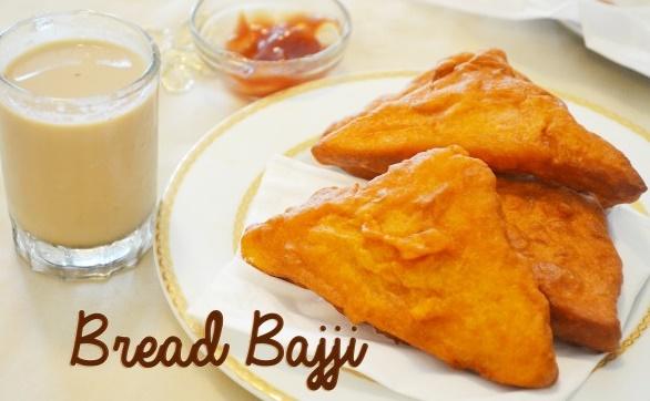 bread bajji recipe, bread pakora, bread pakoda, easy indian snack