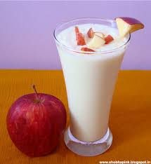 apple milk shake recipe, easy milk shake recipe