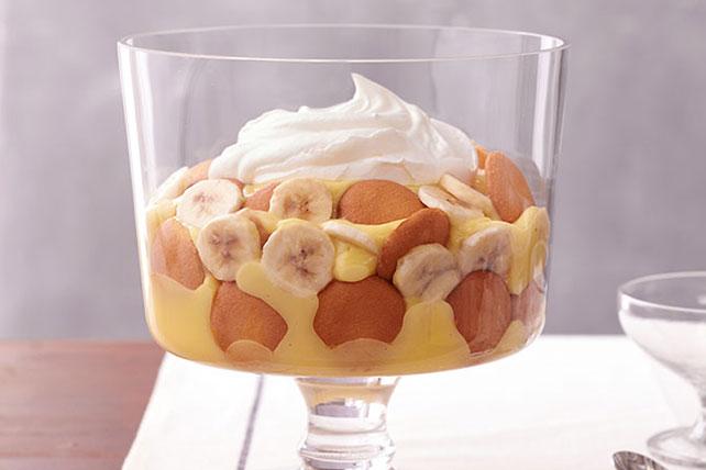 easy banana pudding, dessert with whip cream and banana, easy dessert recipe