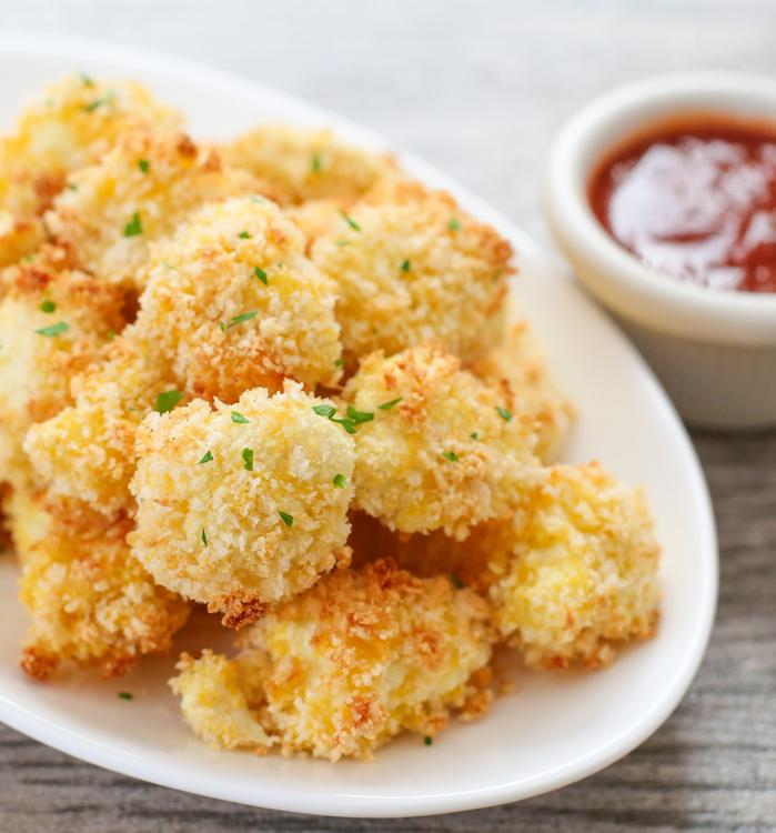 crispy cauliflower bites, easy cauliflower snack recipe, crispy cauliflower