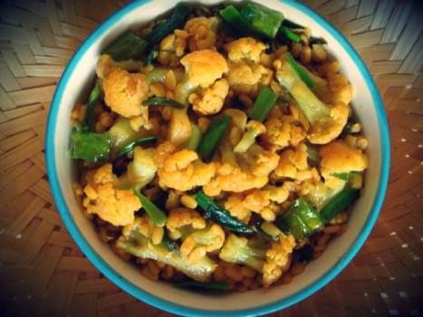 gobi dal recipe, easy gobi dal recipe, cauliflower dal recipe