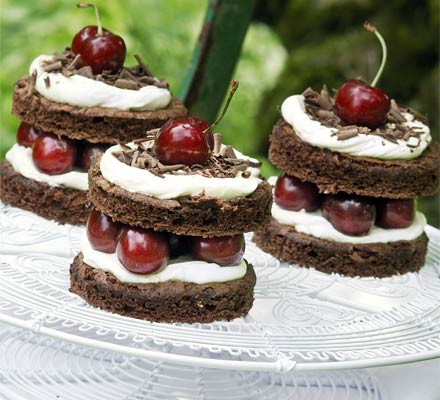 black forest cups, easy dessert recipe