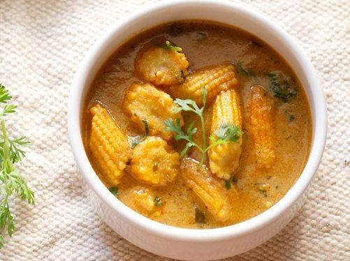 baby corn masala, restaurant style baby corn masala, easy baby corn masala recipe