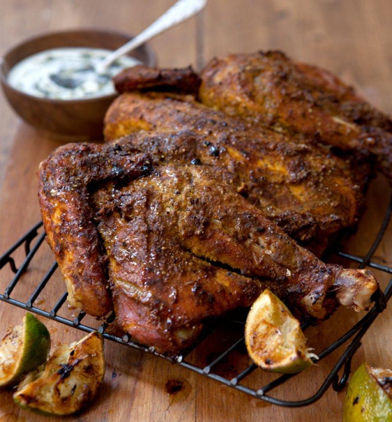 Chicken Roast Masala, chicken with thick gravy, spicy chicken gravy