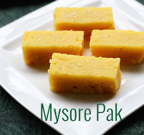 Mysore pak recipe, soft and moist mysore park recipe, easy diwali sweets recipe, mysore pak stove top method